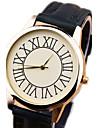 Women's Watches vintage Roman numerals Large dial leather quartz Wristwatch Unisex's Watch Gift idea Cool Watches Unique Watches