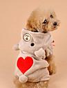 Hundar Dräkter/Kostymer / Huvtröjor / Outfits Brun / Grå Hundkläder Vinter Hjärtan Cosplay / Halloween