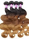 4 delar Kroppsvågor Human Hair vävar Malaysiskt hår Human Hair vävar Kroppsvågor