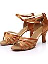Chaussures de danse(Noir Bleu Rouge Argent Or Leopard Autre) -Personnalisables-Talon Personnalise-Satin-Latine Salsa Salon