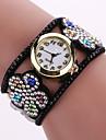 Women\'s Quartz Analog White Case Flower Leather Band Bracelet Wrist Watch Jewelry Cool Watches Unique Watches