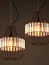 MAX 60W Hängande lampor ,  Traditionell/Klassisk Målning Särdrag for Kristall MetallLiving Room / Dining Room / Sovrum / Kök / Badrum /