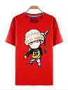 Inspire par One Piece Roronoa Zoro Manga Costumes de Cosplay Cosplay T-shirt Imprime Rouge Manche Courtes Haut Pour Unisexe