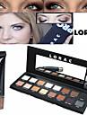 Pro Cosmetics Makeup Set(16 Colors Luminous Eyeshadow Eye Shadow Palette with Mirror+1PCS Eye Primer Base)