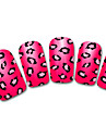 snowflake / leopard / spets röd / svart abstrakt 3d spik klistermärke