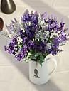 tio huvuden siden lavendel konstgjorda blommor flerfärgad tillval 1st / set