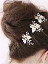 Femei Fata cu Flori Ștras Aliaj Imitație de Perle Diadema-Nuntă Ocazie specială Ac de Păr 1 Bucată
