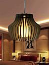 12W Lampe suspendue ,  Vintage Autres Fonctionnalite for LED Bois/BambouSalle de sejour / Chambre a coucher / Salle a manger /