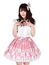 alice schack knälång rosa polyester söt prinsessa lolita kjol