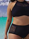 Femei Bikini Femei Bustieră Solid Fără Întăritură Polyester / Dantelă