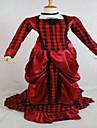 Une Piece/Robes Gothique Lolita Classique/Traditionnelle Steampunk® Cosplay Vetrements Lolita Couleur Pleine Manches longues Long Robe
