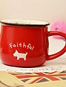 klassiska kreativ röd keramikmugg kopp