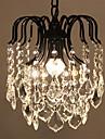 Max 60W Rustique Cristal / LED / Style mini Plaque Metal Lampe suspendueSalle de sejour / Chambre a coucher / Salle a manger /