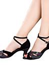 Chaussures de danse(Noir Bleu Argent Multicolore) -Non Personnalisables-Talon Cubain-Velours Paillette Brillante Paillette Taffetas