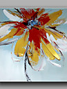 Pictat manual Floral/Botanic Pătrat,Modern Clasic Un Panou Hang-pictate pictură în ulei For Pagina de decorare