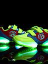 Pojkar Flickor Sneakers Vår Sommar Höst Vinter Komfort Tända upp Skor Tyll Fritid Platt klack Krok och ögla LED Svart Grön Röd