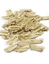 neitsi® 80pcs i-form knäppa klipp metallklämmor för hårförlängningar diy clip-on (2,8 cm, svart, brun, gul)