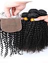Trame cheveux avec fermeture Cheveux Peruviens Tres Frise tissages de cheveux