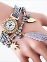 loisirs tendance montre a quartz ms han edition etudiant montres bracelet cordon de mode plume
