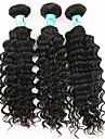 Human Hår vävar Indiskt hår Stora vågor 3 delar hår väver
