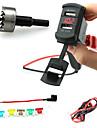 iztoss dubbla USB-laddare stickpropp rocker stil med voltmeter röda lysdioden och ledningar säkringshållaren och vrider drilli