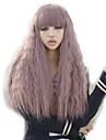 lockigt lila dam peruker hår cosplay syntetiska peruker