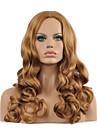 nya Dammode syntetiskt hår peruker långt vågigt mitten lugg blond fiber värmebeständigt dam sexig håret fullt peruk