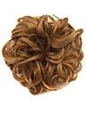 peruk brun 6cm hög temperatur tråd hår cirkel färg 7027