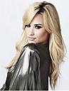 mode boucles noir blond vagues de couleur de melange de perruques de cheveux synthetiques de haute qualite.