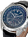 Men's Auto-Mechanical Calendar Leather Band Watch Wrist Watch Cool Watch Unique Watch