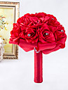 Rose Flower Elegant Hand Made Decorative Artificial Crystal Beaded Flower Bride Vestidos Wedding Bouquets