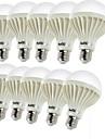 7W E26/E27 LED-globlampor C35 12 SMD 5630 600 lm Varmvit Dekorativ AC 220-240 V 10 st