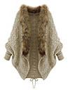 여성의 컬러 블럭 긴 소매 코트 베이지 겨울 중간