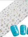 1pcs 100cmx4cm glitter autocollant en aluminium de clou belle flocon arc-en-images gemetric beaute des ongles diy stzxk21-25