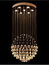 3 Contemporain Cristal / LED Plaque Metal Lampe suspendueSalle de sejour / Chambre a coucher / Salle a manger / Cuisine / Bureau/Bureau