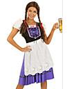 Cosplay Kostymer/Dräkter / Festklädsel Oktoberfest Festival/Högtid Halloween Kostymer Blå Lappverk Klänning / FörklädeHalloween /