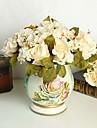 Soie / Mousse de polystyrene Roses Fleurs artificielles