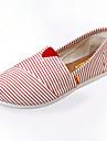 Damskor-Textil-Platt klack-Komfort-Loafer-Fritid-Blå / Röd