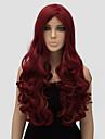kvinnor lång kropp våg röd färg högsta kvalitet syntetisk peruk