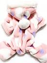 Pisici Câini Hanorace cu Glugă Salopete Pijamale Roz Îmbrăcăminte Câini Iarnă Primăvara/toamnă Buline Drăguț Casul/Zilnic