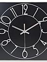 Rond Moderne/Contemporain Horloge murale,Autres Metal 30*30*5cm