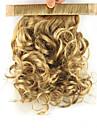 longueur 28cm sombre perruque doree synthetique boucles fil a haute temperature bobine contracter couleur queue de cheval pelucheux 1011