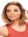 couleur brune milieu cheveux raides perruque synthetique europeenne
