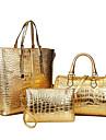 Dam PU Formell Ledig Shopping Kontor Bärkasse bag set Blå Guldfärgad Röd Silverfärgad Svart