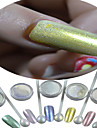 1 bottle powder+1 eye shadow brush-Bijoux pour ongles / Paillettes & PoudreMariage-2.6*2.6cm