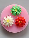 tre blommor choklad silikon formar, kakformar, tvål formar, dekoration verktyg bakeware