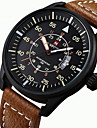 NAVIFORCE Bărbați Ceas Sport Ceas Militar Ceas de Mână Japoneză Quartz Calendar Rezistent la Apă Iluminat Piele Bandă Casual Negru Maro