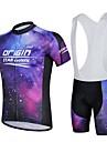Maillot et Cuissard a Bretelles de Cyclisme Homme Manches courtes Velo Respirable Anti-transpirationMaillot + Short/Maillot+Cuissard