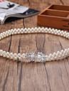 Margele / Elastic Nunta / Party/Seara Cercevea-Imitație de Perle Dame 25 ¼în(64cm) Imitație de Perle