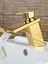 Contemporain Set de centre Cascade with  Valve en ceramique Mitigeur un trou for  Ti-PVD , Robinet lavabo